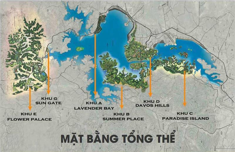 du an khu do thi nam da lat 37 - Quy hoạch các phân khu dự án khu đô thị Nam Đà Lạt