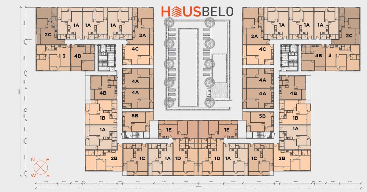 mat bang tang du an can ho hausbelo - Dự án căn hộ Haubelo Quận 9