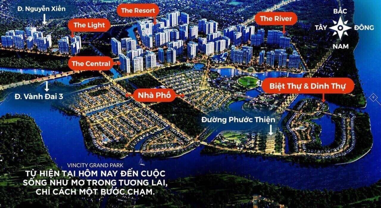 Bản đồ quy hoạch phân khu đại dự án Vincity Grand Park Quận 9