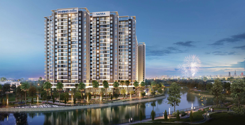 Phối cảnh dự án căn hộ Safira Khang Điền Quận 9 - Khang Điền HCM