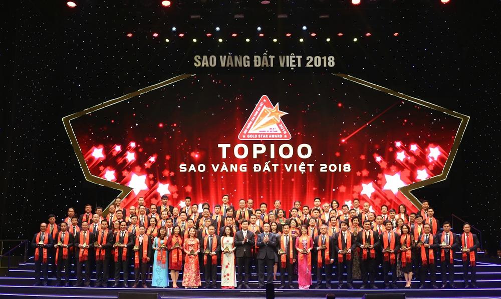 Top 100 sao vàng đất việt năm 2018 có nhiều đơn vị uy tín như Vingroup, Khang Điền, Hưng Thịnh...Khang Điền HCM