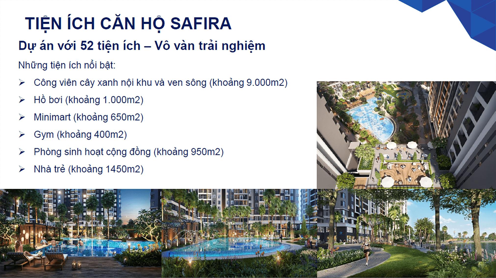 Tiện ích đẳng cấp tại căn hộ Safira Khang Điền Quận 9