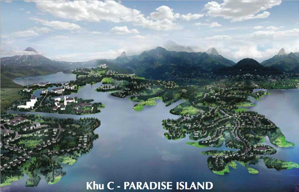 khu c paradise island nam da lat - Dự án khu đô thị Nam Đà Lạt