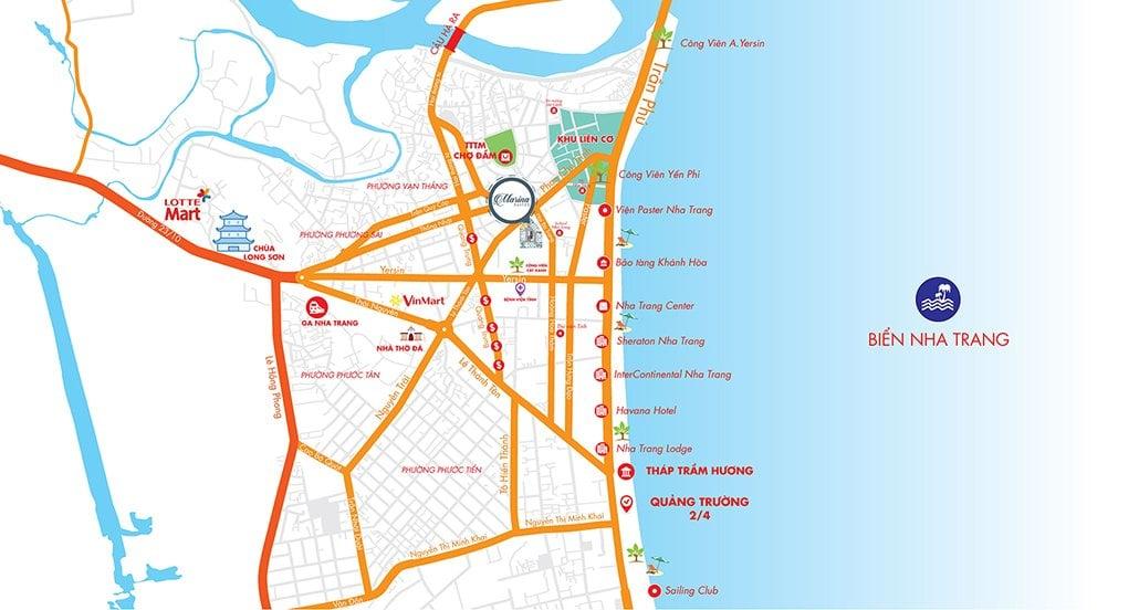 Vị trí dự án căn hộ Marina Suites Nha Trang