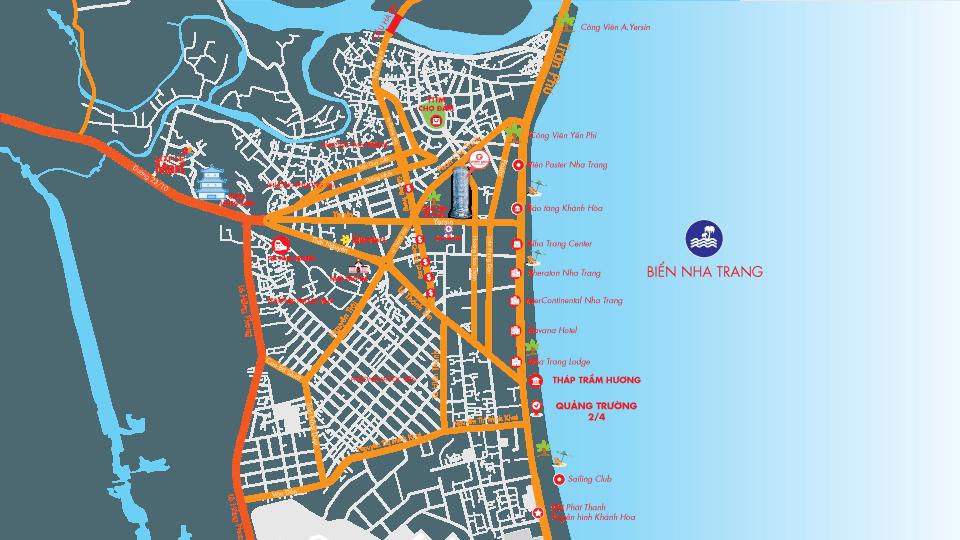 map Ocean Gate final   960 x 540px - DỰ ÁN CĂN HỘ CONDOTEL OCEAN GATE NHA TRANG