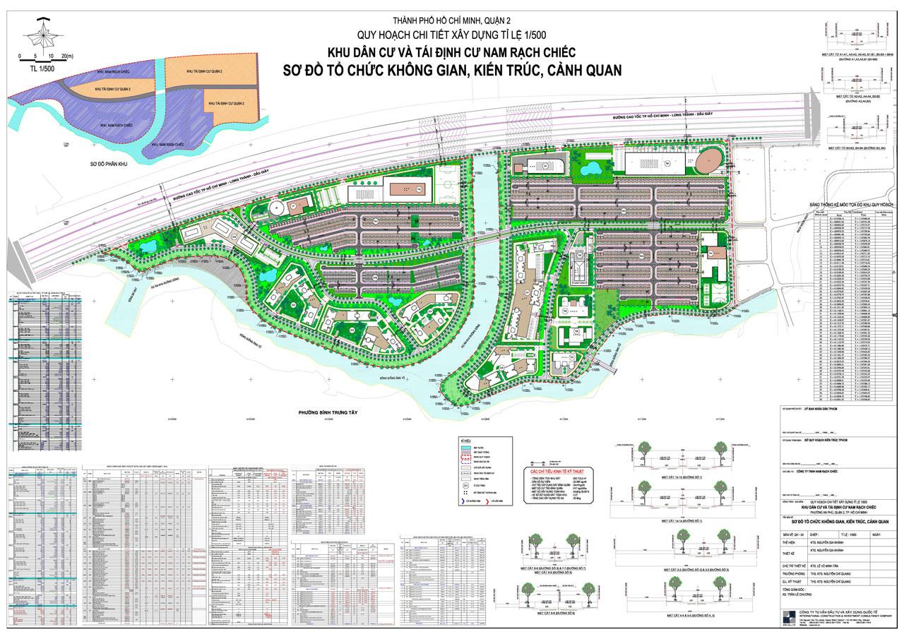 Quy hoạch 1/500 khu đô thị Nam Rạch Chiếc Quận 2