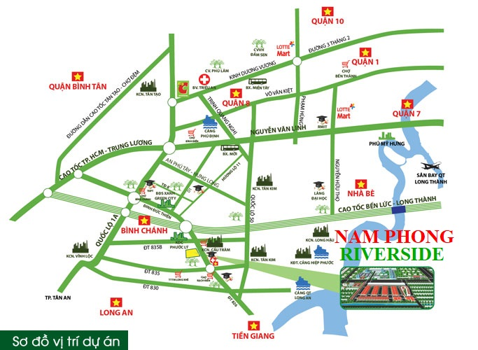vị trí nam phong riverside - NÓNG! Cập Nhật Bảng Giá Dự Án Eco City Mặt Tiền Quốc Lộ 50
