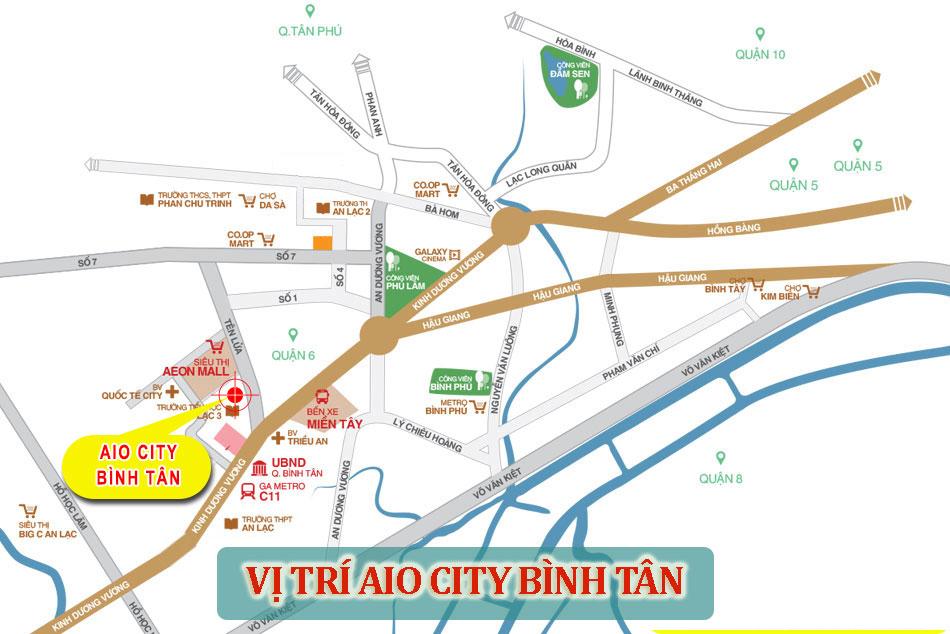 vi tri du an can ho aio city - Liệu có còn cơ hội mua căn hộ tại dự án Aio City Bình Tân Tên Lửa