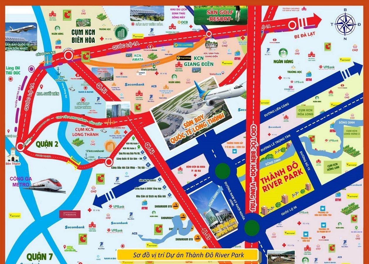 Dự án đất nền Thành Đô River Park Bà Rịa Vũng Tàu, bảng giá mới nhất