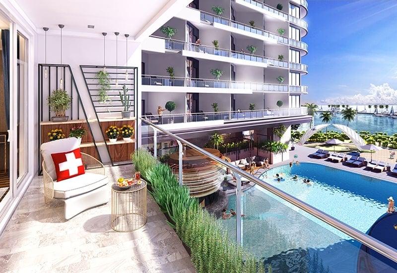 Loại căn hộ Duplex tại dự án Swisstousches La luna Nha Trang