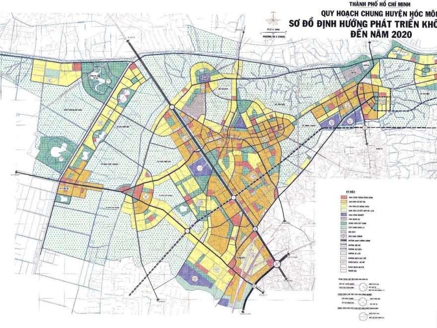 Bản đồ quy hoạch huyện hóc môn đến năm 2020 tại tphcm
