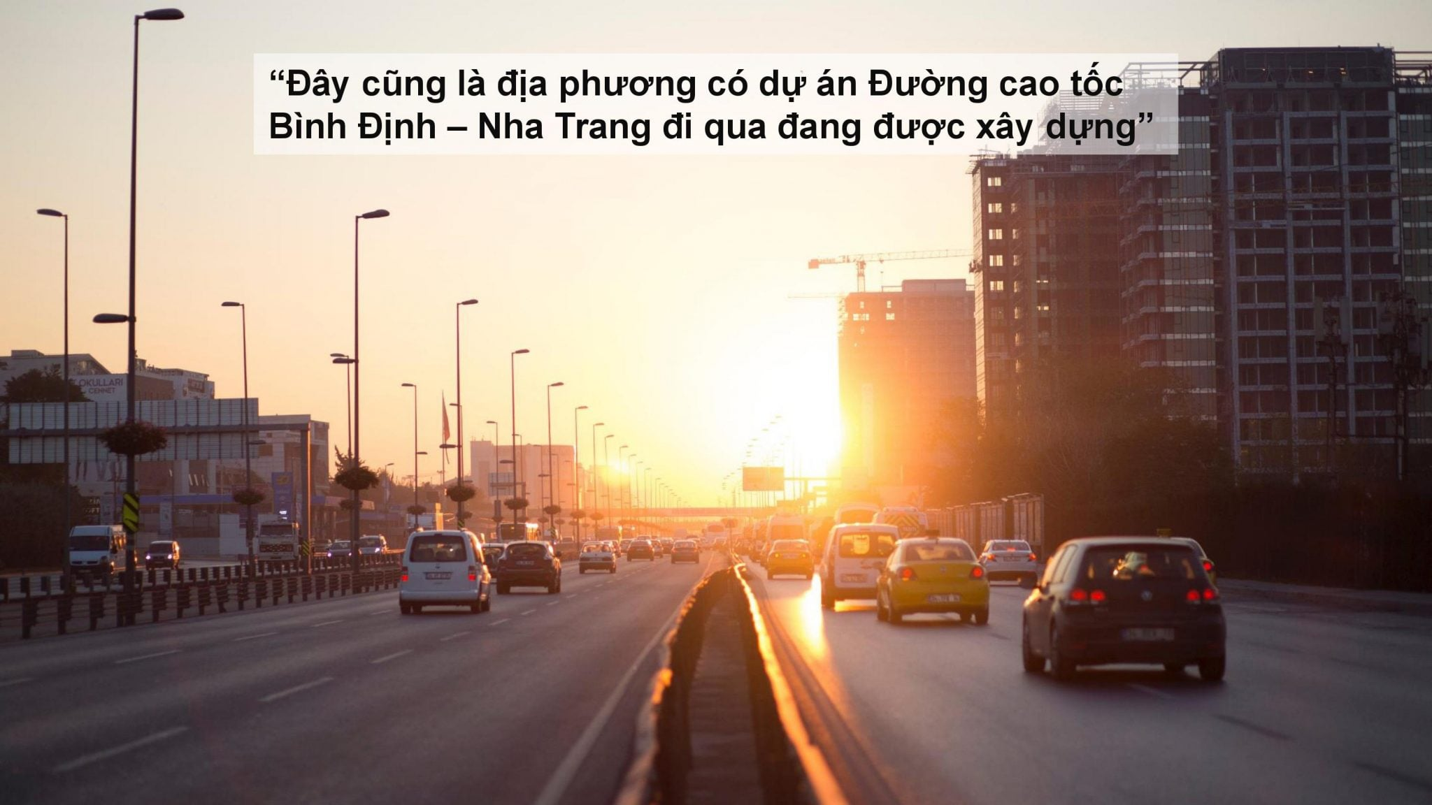 Dự án đường Cao tốc Bình Định - Nha Trang đi qua khu biệt thự vườn Nam Vân Phong