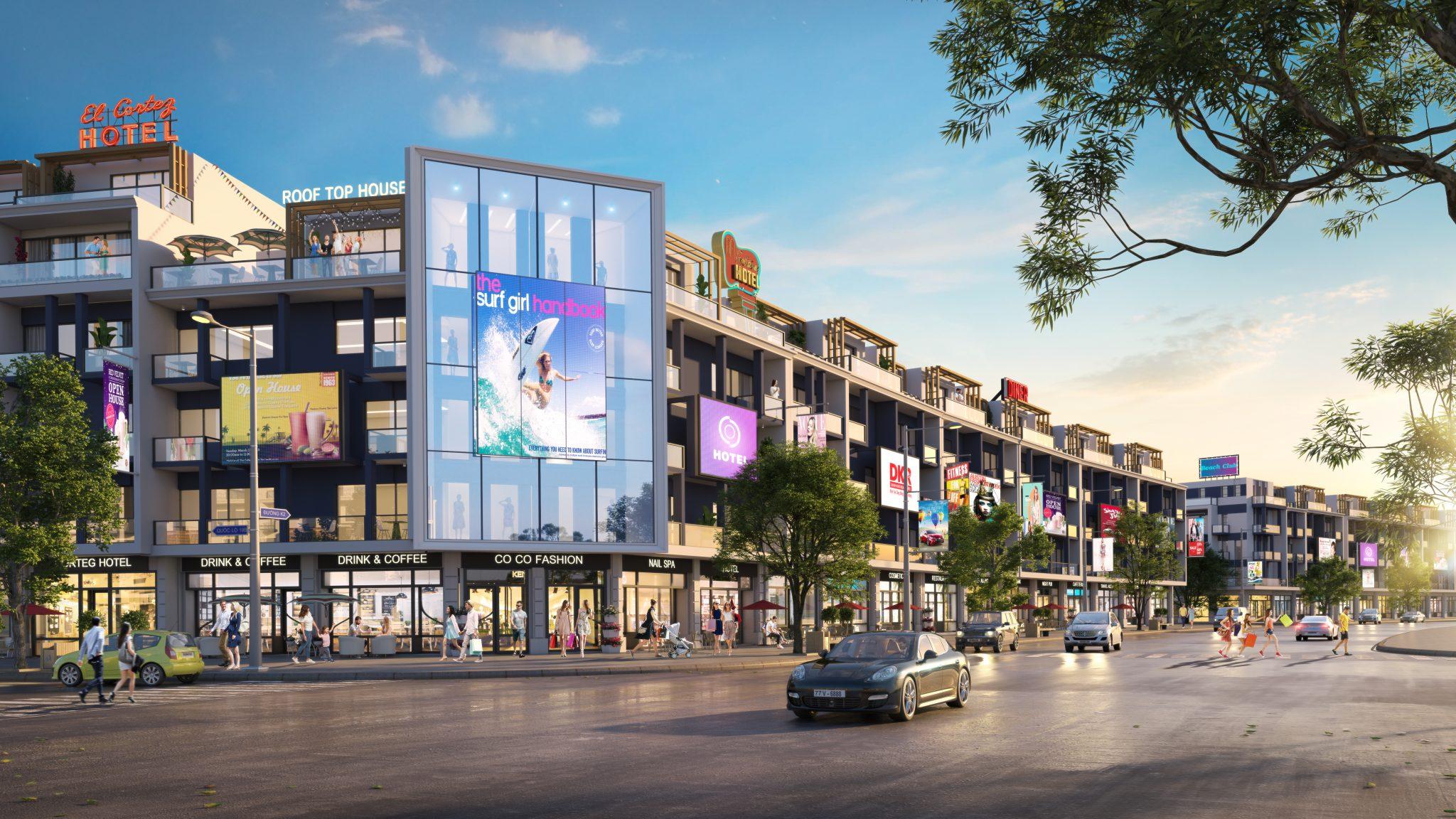 190809 Phối cảnh nhà liền kề thương mại DA Nhơn Hội New City PK2 - DỰ ÁN ĐẤT NỀN NHƠN HỘI NEW CITY QUY NHƠN, TỈNH BÌNH ĐỊNH