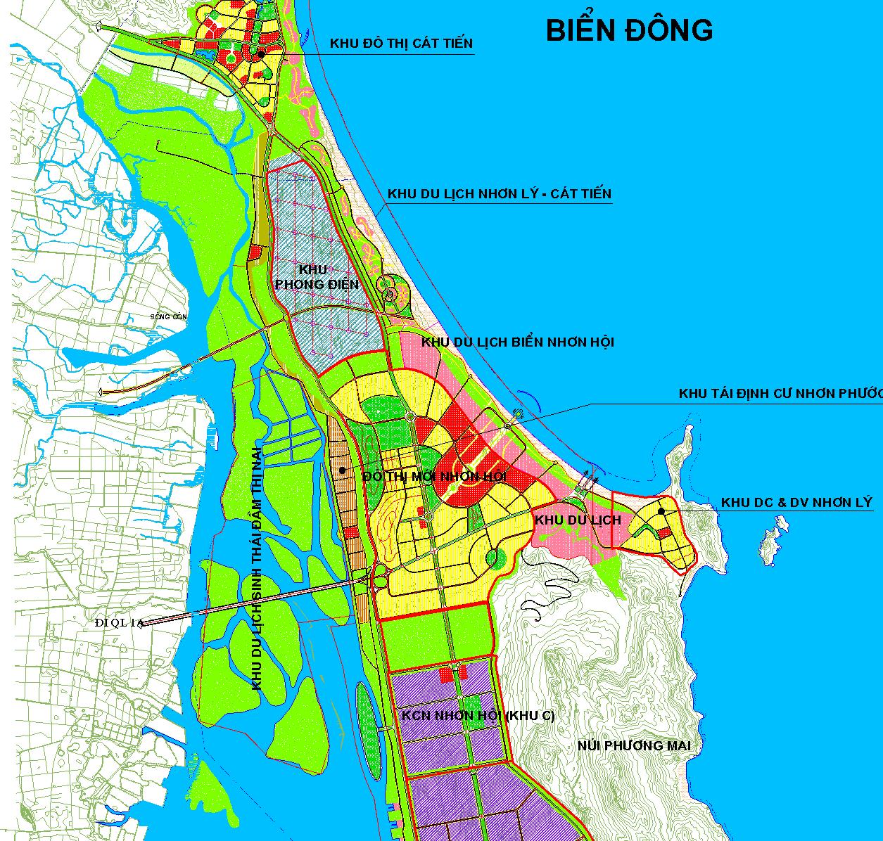 Vị trí tiềm năng của dự án Nhơn Hội New City
