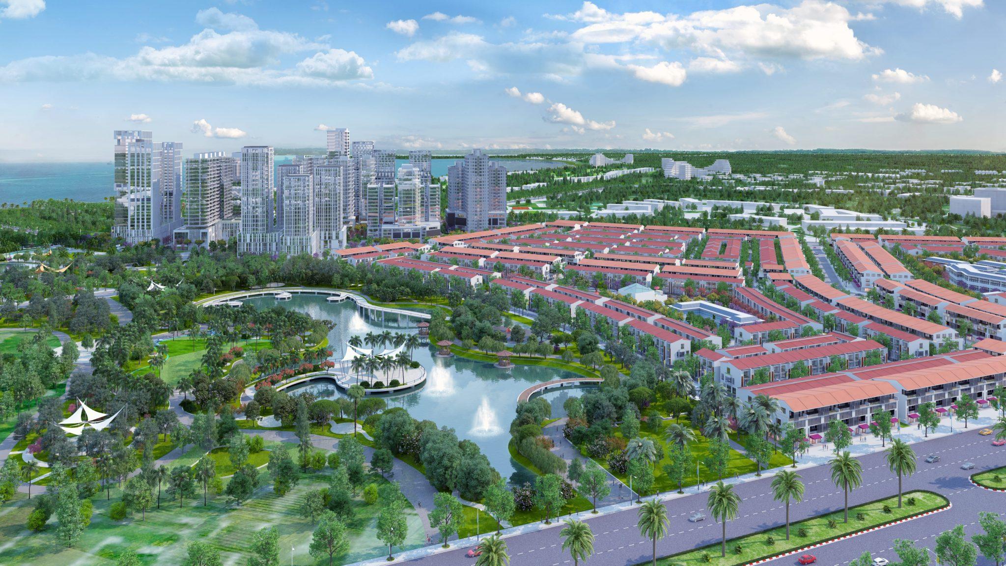 phoi canh view cong vien 5ha tai nhon hoi new city quy nhon - DỰ ÁN ĐẤT NỀN NHƠN HỘI NEW CITY QUY NHƠN, TỈNH BÌNH ĐỊNH