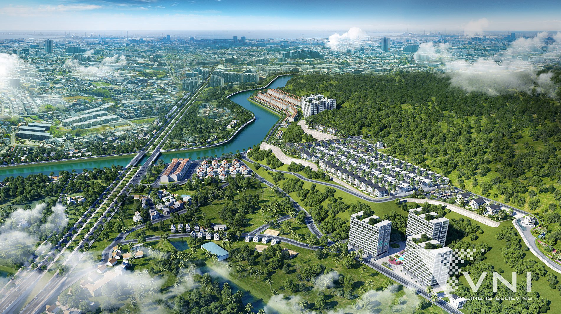 Phối cảnh dự án đất nền biệt thư Nha Trang Grand view Võ Nguyên Giáp