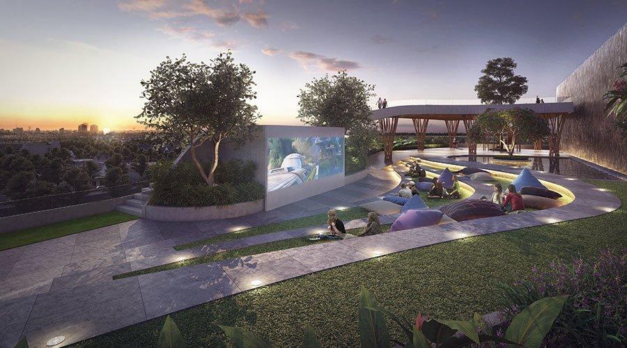 Rạp chiếu phim ngoài trời tại dự án Feliz en Vista