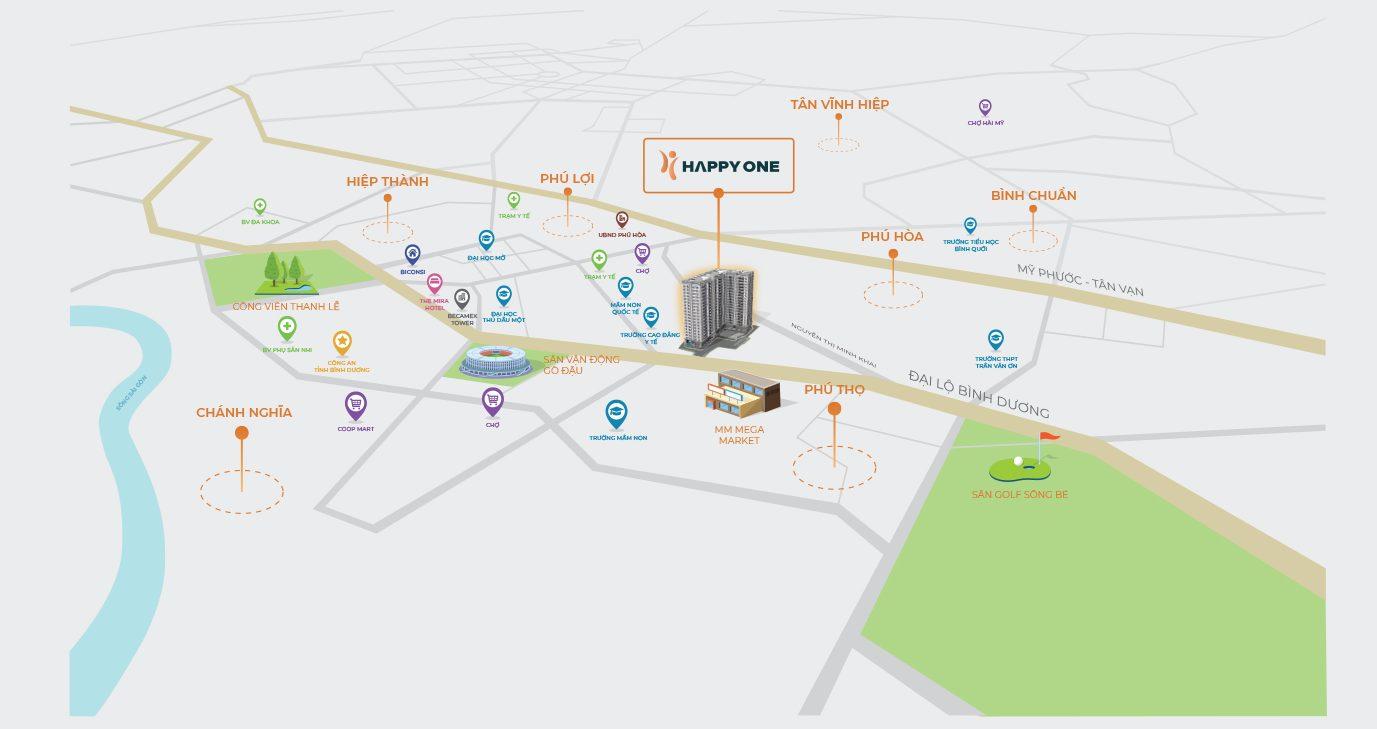 map happy one binh duong e1560935629921 - DỰ ÁN CĂN HỘ HAPPY ONE BÌNH DƯƠNG