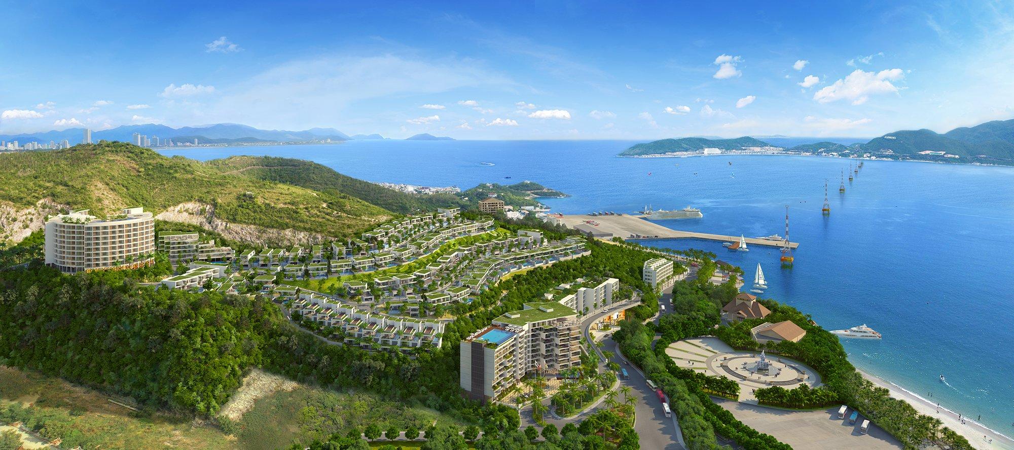 Phối cảnh dự án biệt thự biển Nha Trang Grand View