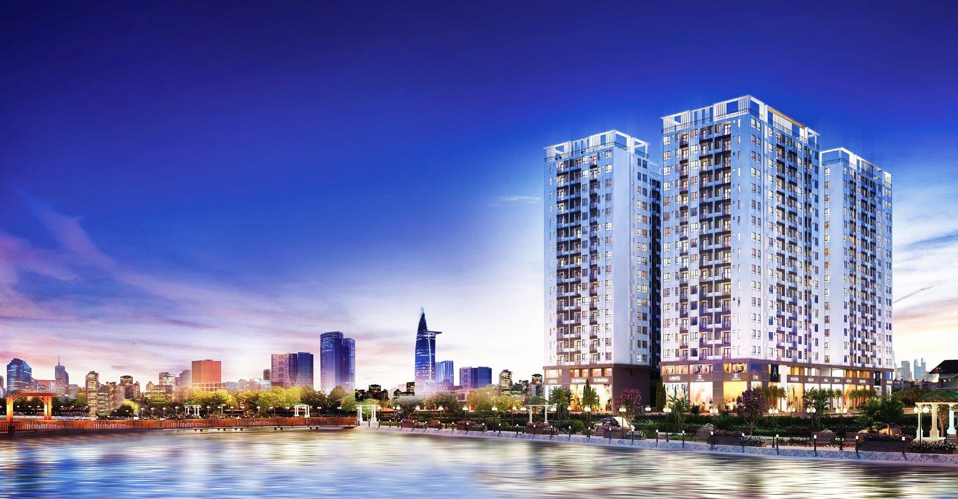phoi canh can ho city gate quan 8 - DỰ ÁN CĂN HỘ CITY GATE 4 QUẬN 8