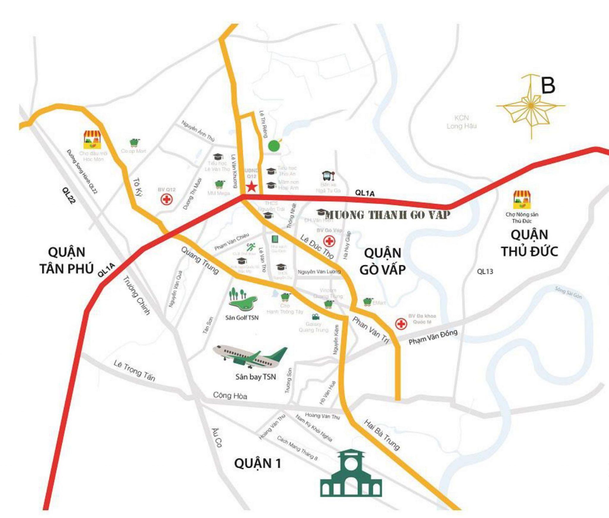 Vị trí căn hộ Mường Thanh Gò Vấp - kết nối nhanh chóng tiện ích xung quanh