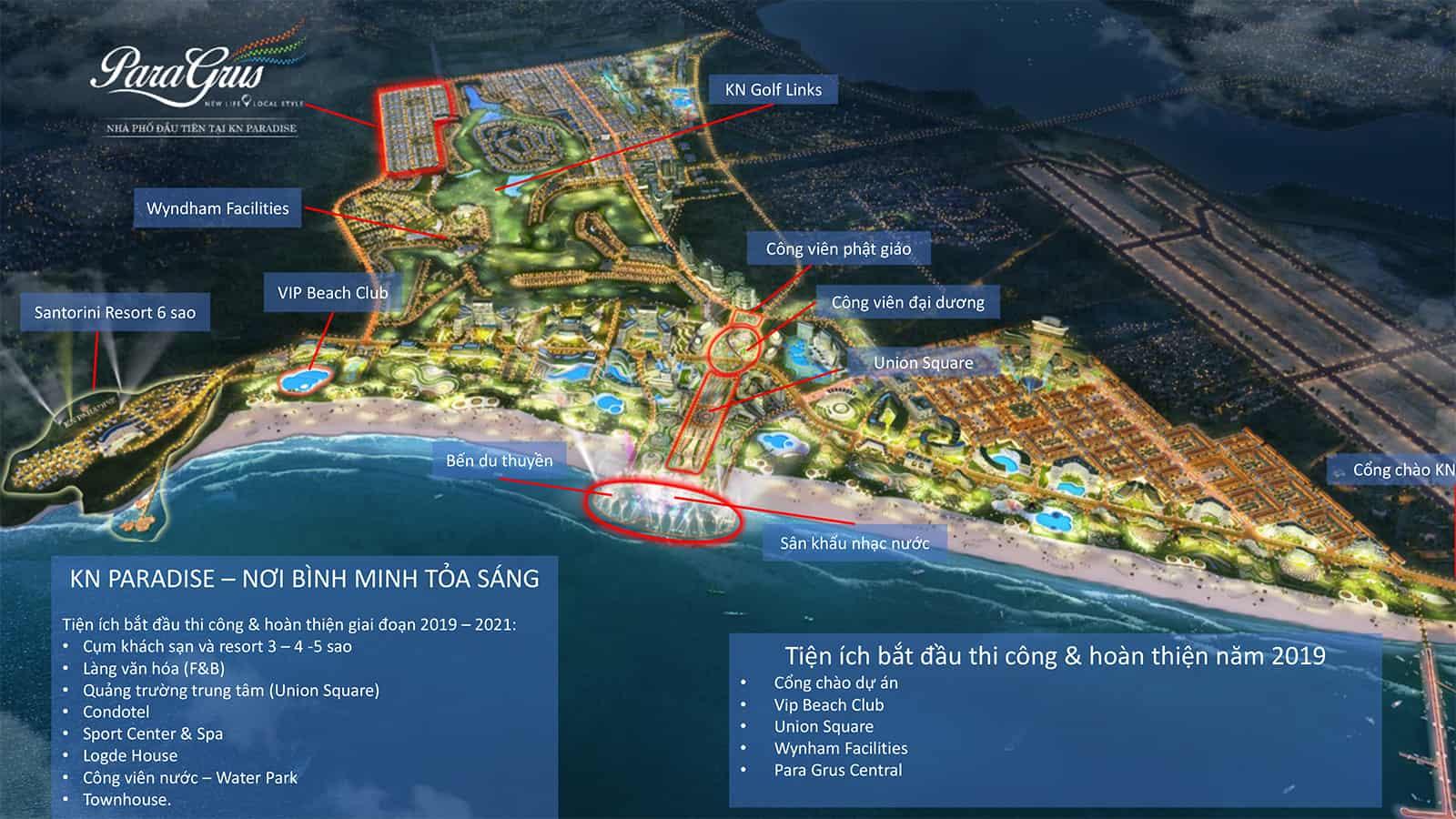 Tiện ích nội khu khép kín tại dự án KN Paradise - phân khu nhà phố biển Para Grus