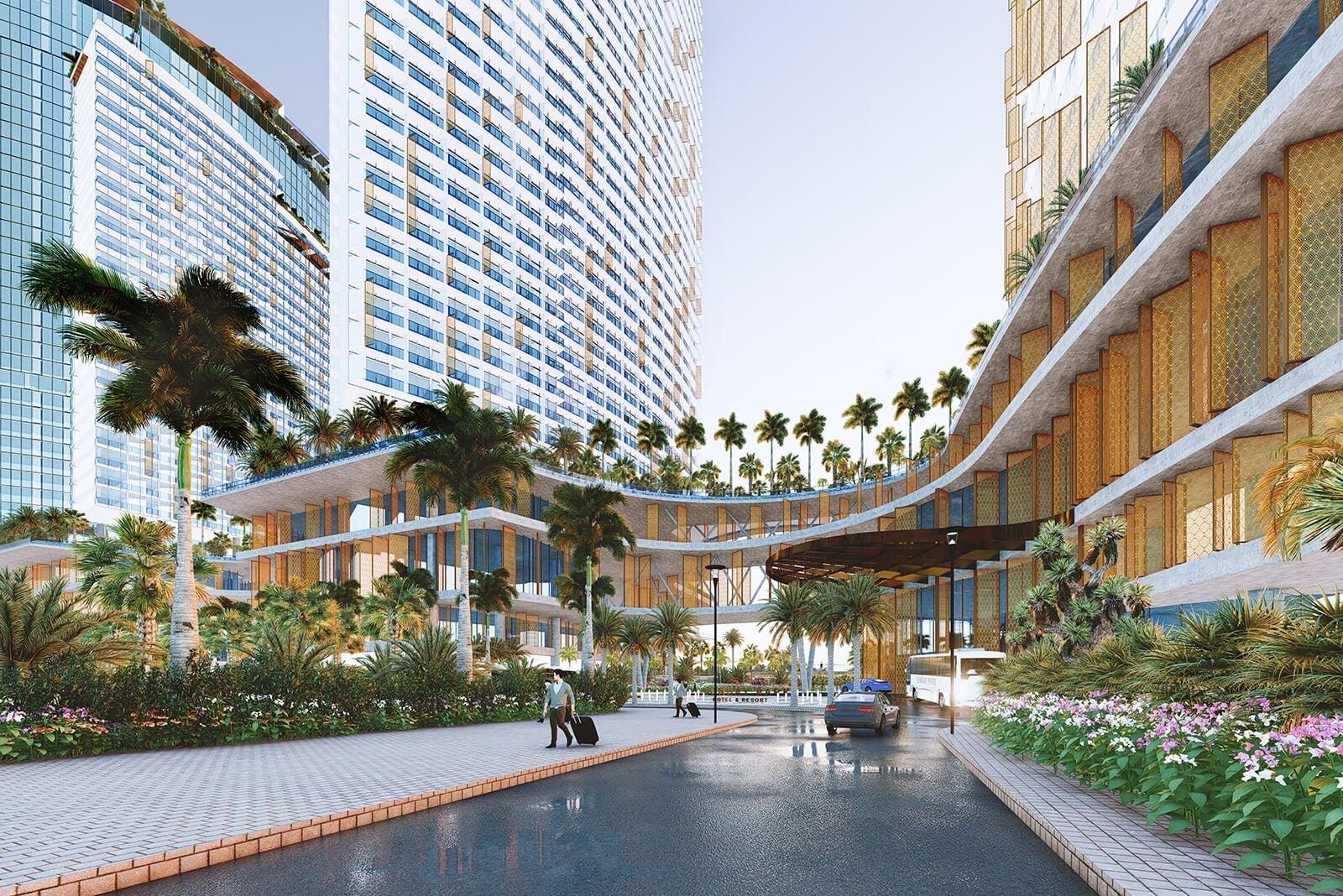 Khu mua sắm dịch vụ ngoài trời tại Sunbay Park Hotel & Resort Phan Rang