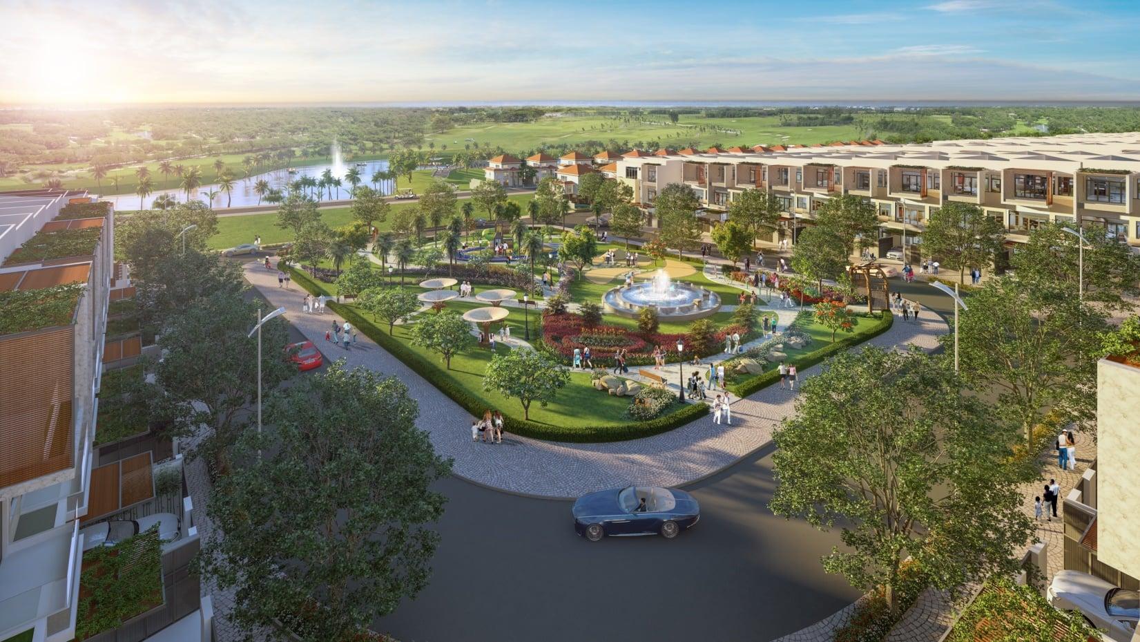 Phối cảnh tổng thể khu đô thị dự án nhà phố biển Para Grus