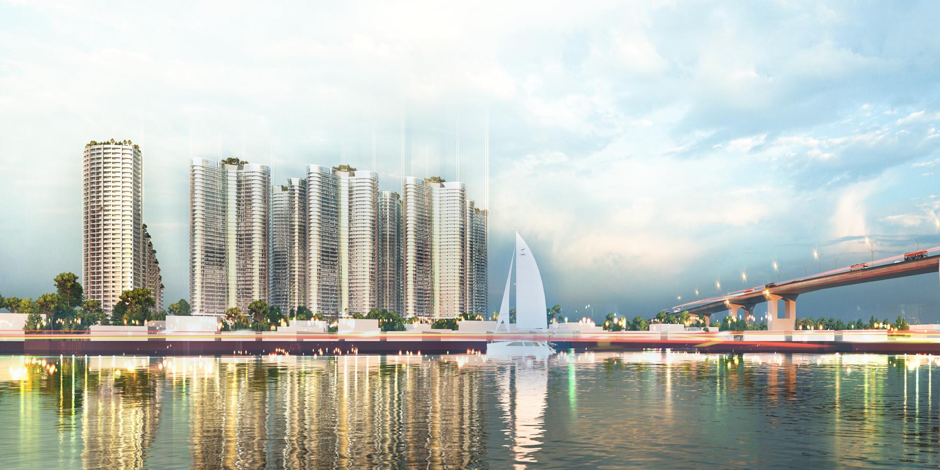 View sông và cầu Phú Mỹ đẳng cấp từ chung cư của chủ đầu tư Sunshine