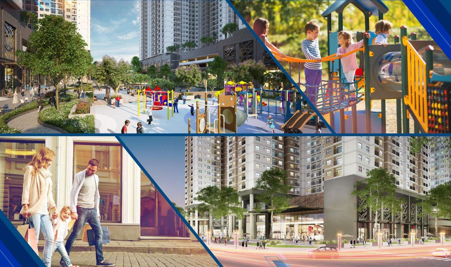Tiện ích nội khu căn họ tái định cư Phú Mỹ 2 - Q7 Boulevard Nguyễn Lương Bằng