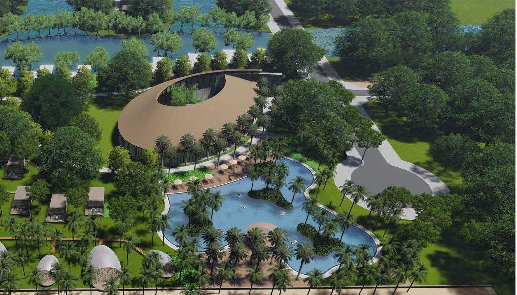 Không gian ngập tràn sắc xanh, hài hòa với thiên nhiên tại dự án Lagoona Bình Châu