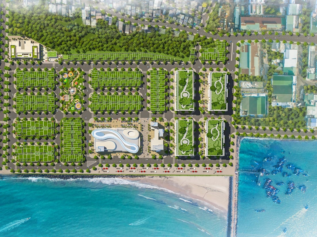 Mặt bằng dự án đất nền Queen Pearl Marina Lagi Bình Thuận