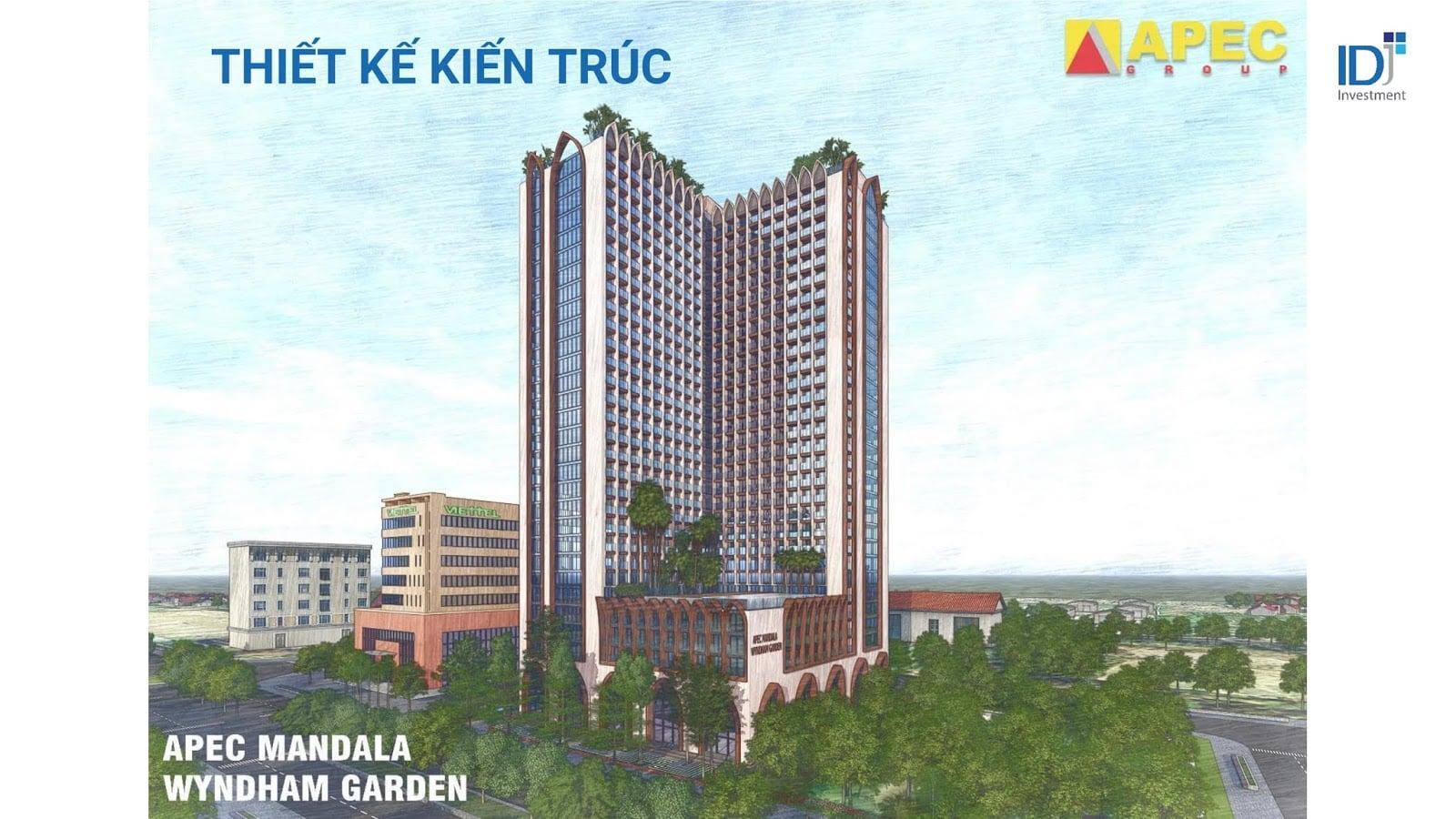 Phối cảnh dự án condotel Apec Mandala Wyndham Garden Phú Yên