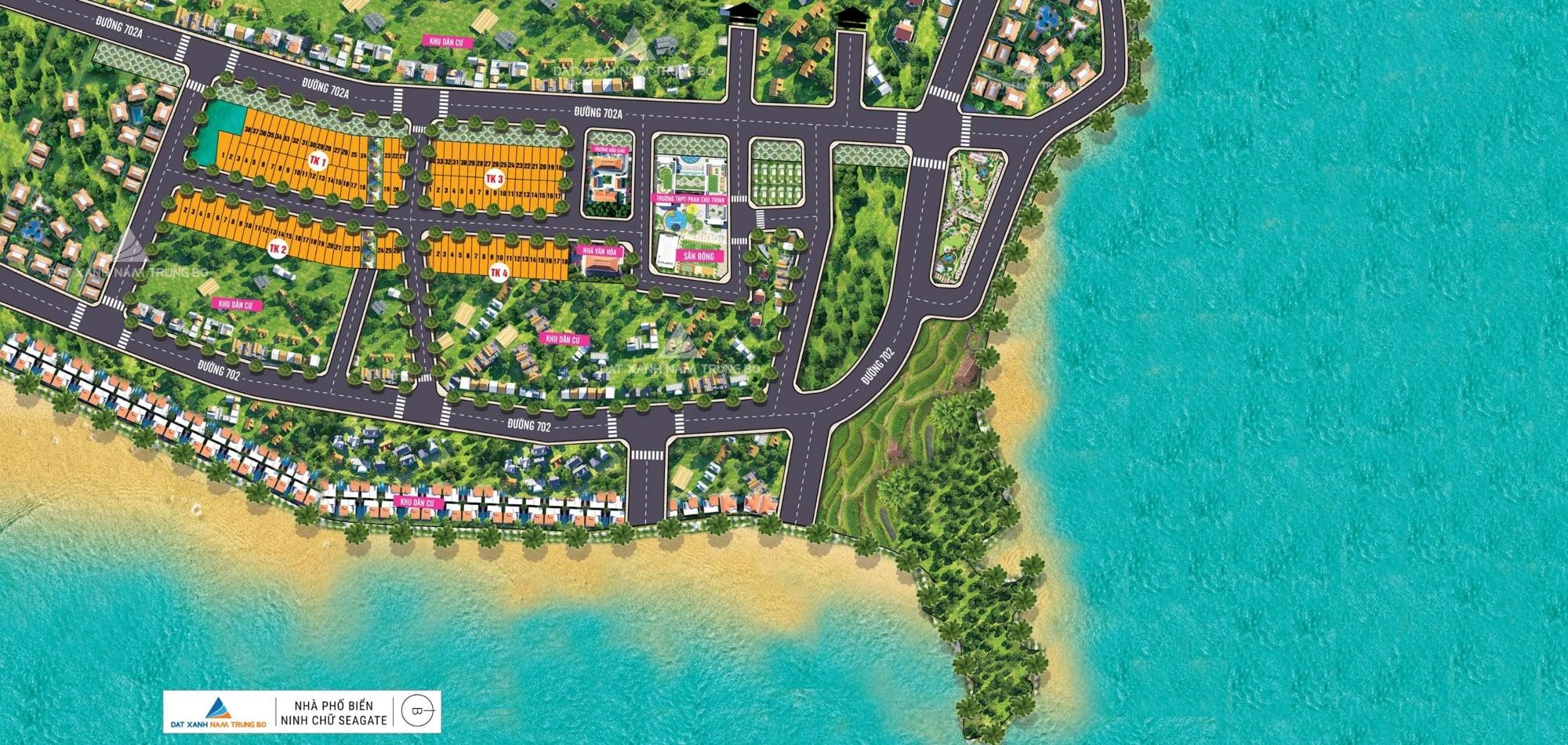 Sơ đồ phân lô dự án đất nền - nhà phố biển Ninh Chữ Ninh Thuận