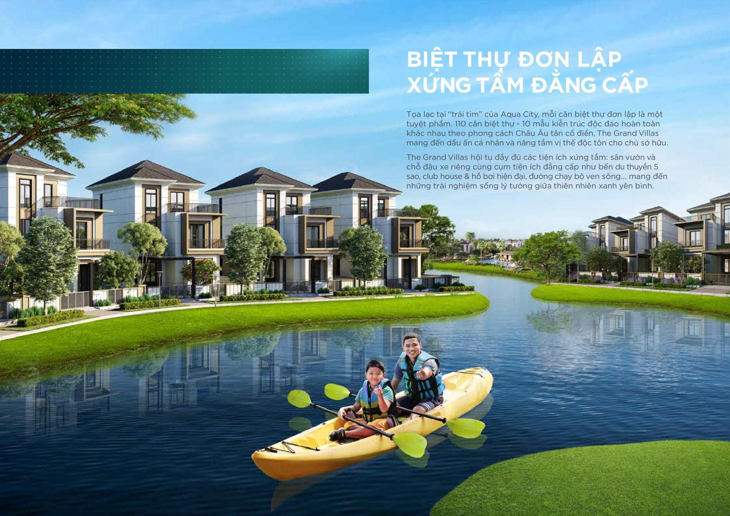 """The Grand Villas """"Ngôi làng Hà Lan"""" giữa đô thị sinh thái Aqua City"""
