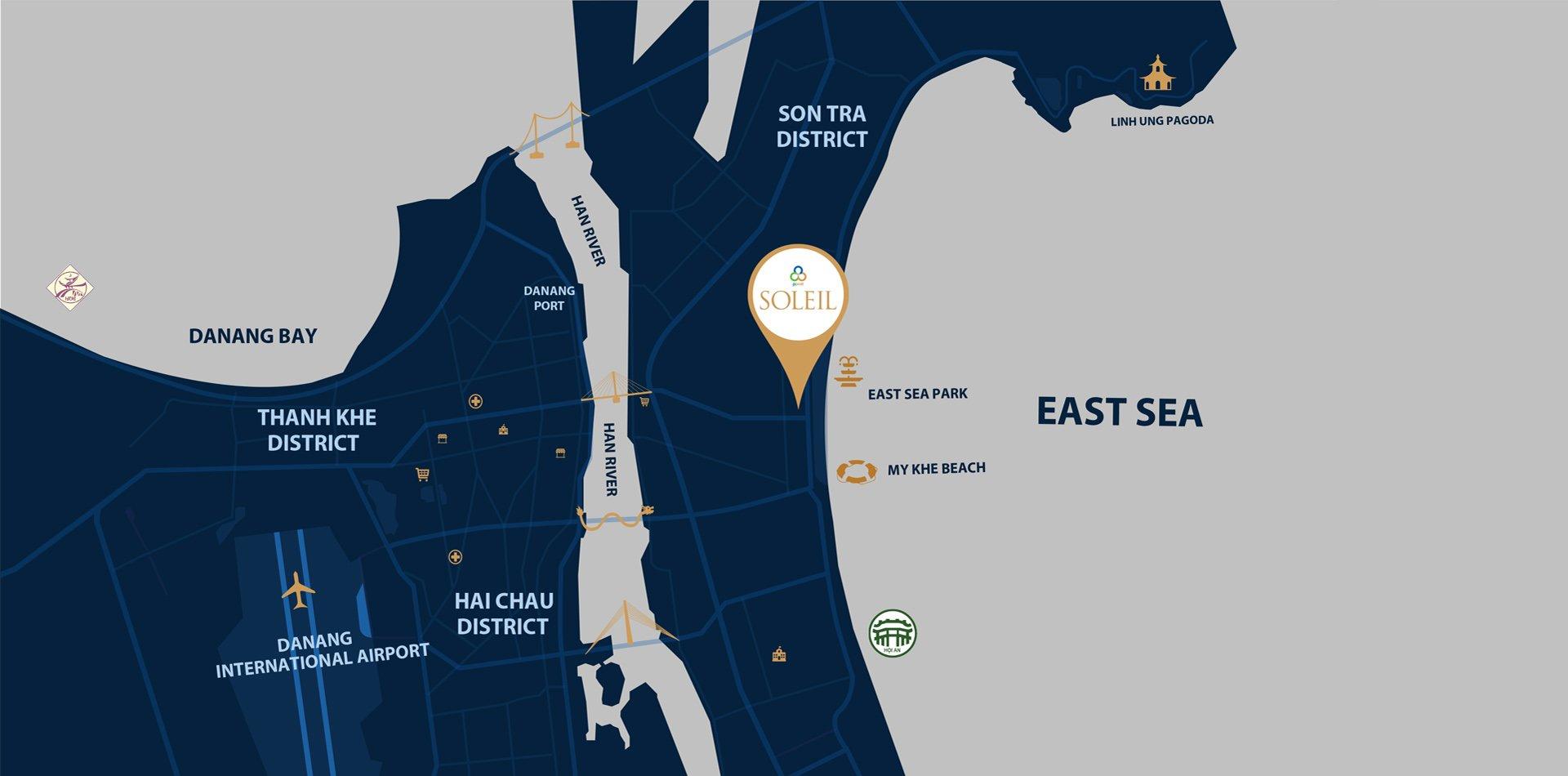 Vị trí dự án Wyndham Đà Nẵng