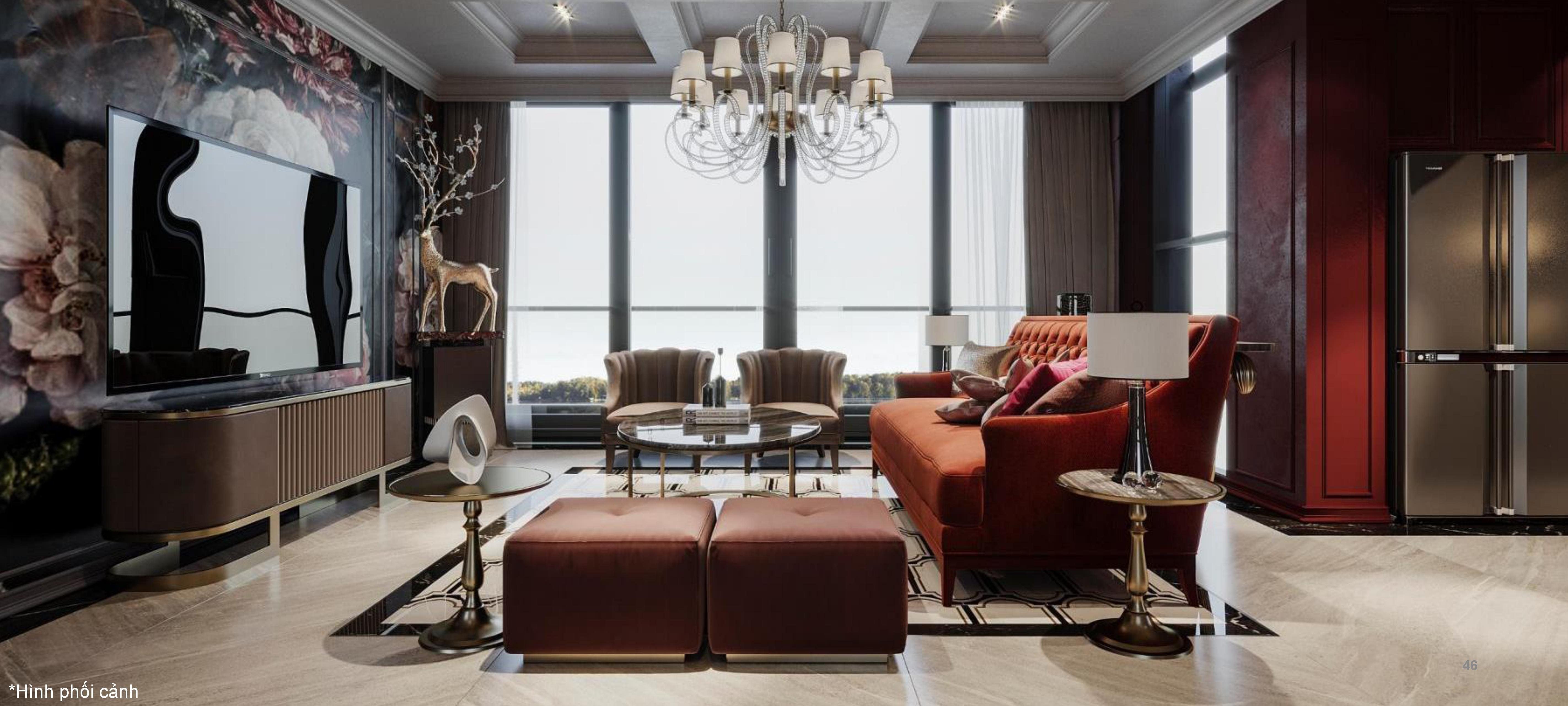 Thiết kế đẹp mắt và sang trọng tại căn hộ dự án Panomax River Villa