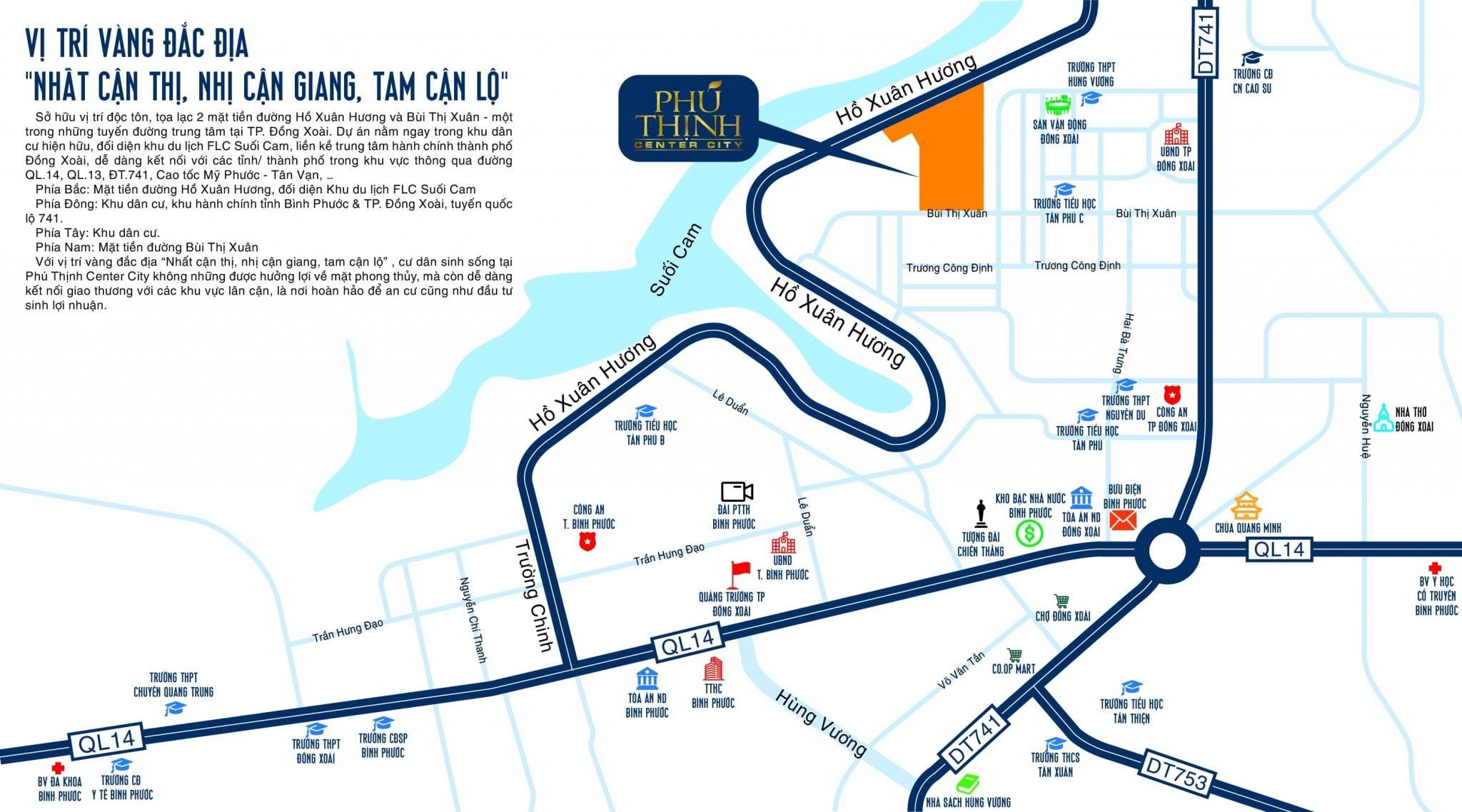 Map - Vị trí dự án Phú Thịnh Center City