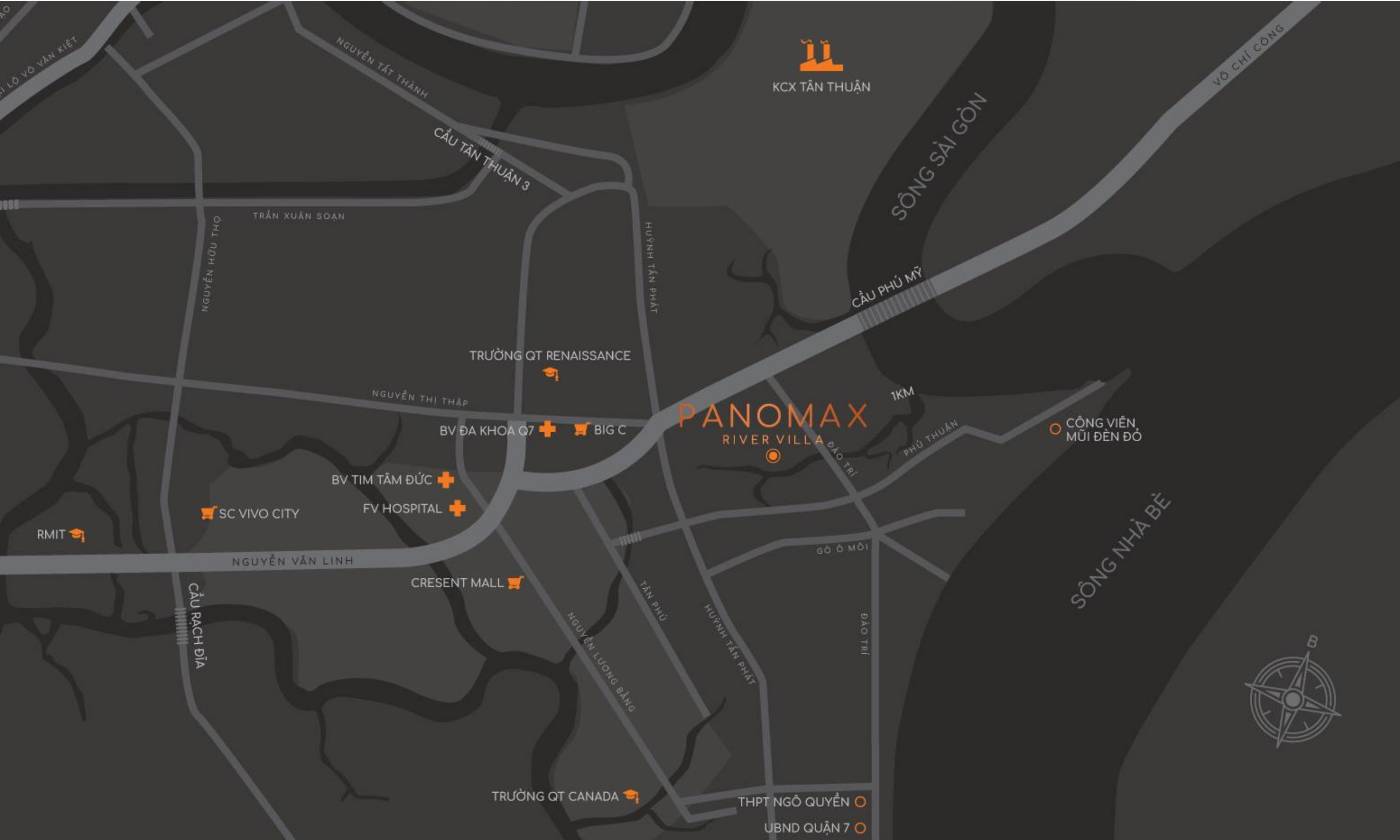 Map - Vị trí dự án Panomax River Villa Quận 7