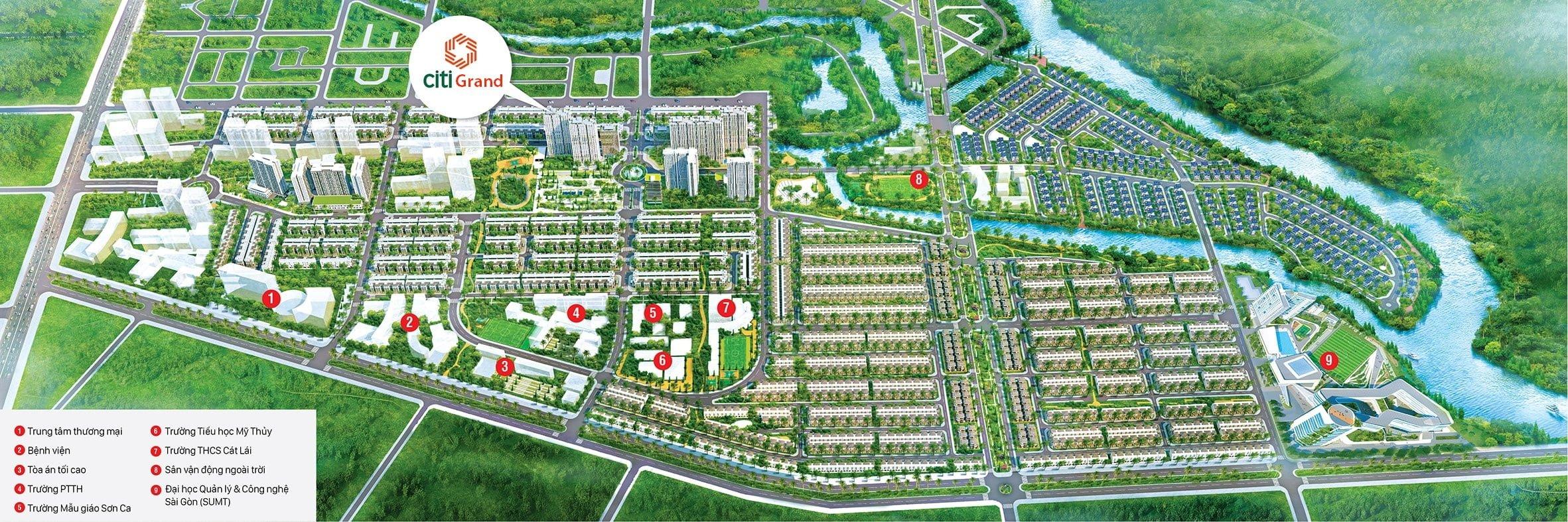 Tiện ích ngoại khu xung quanh căn hộ Citi Grand Cát Lái Quận 2