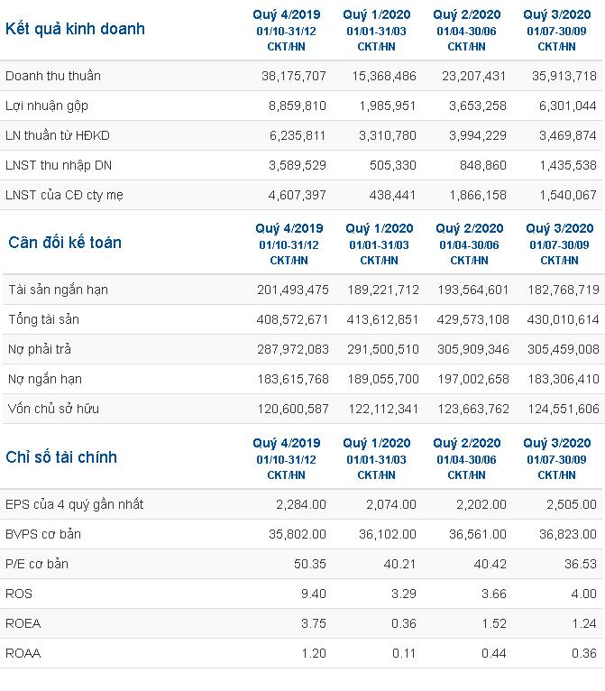 Báo cáo tài chính Vingroup
