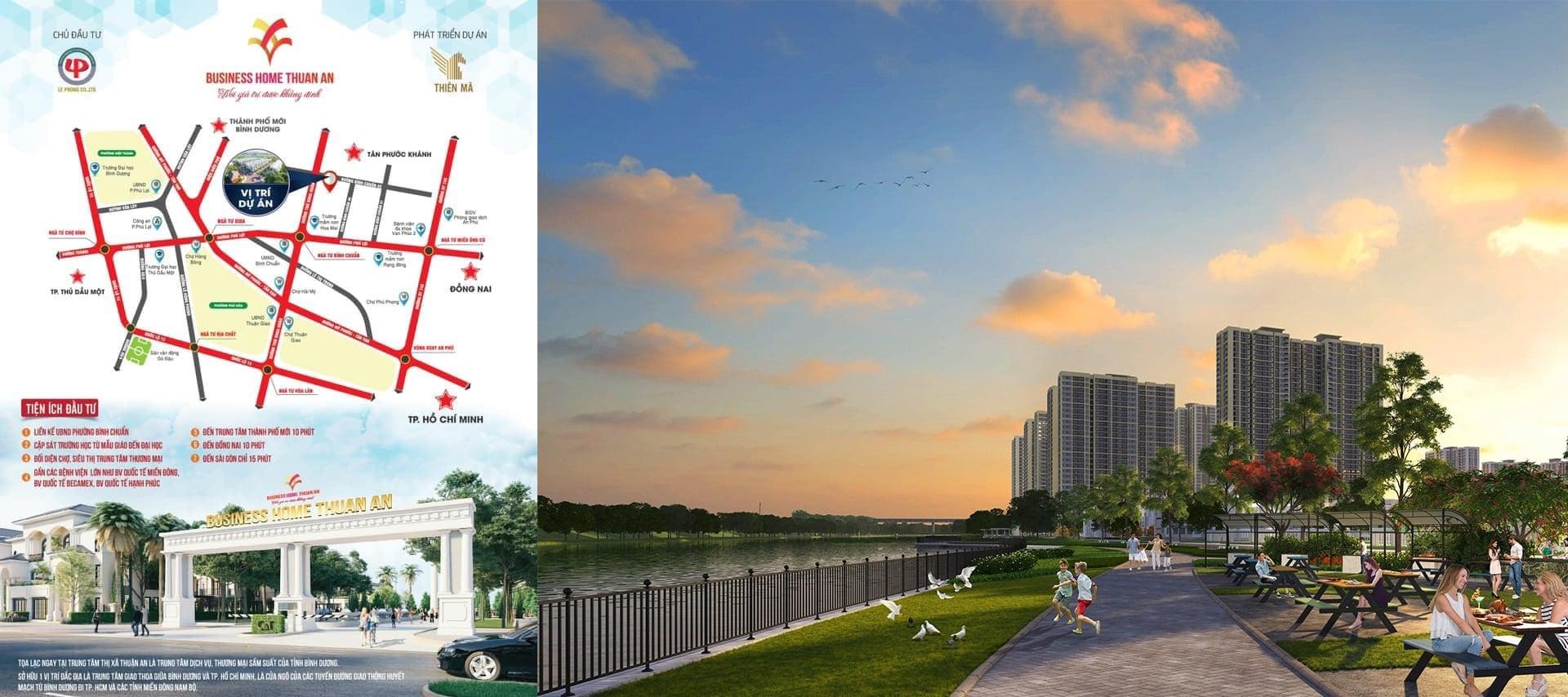 Phối cảnh dự án đất nền Business Home Thuận An Bình Dương