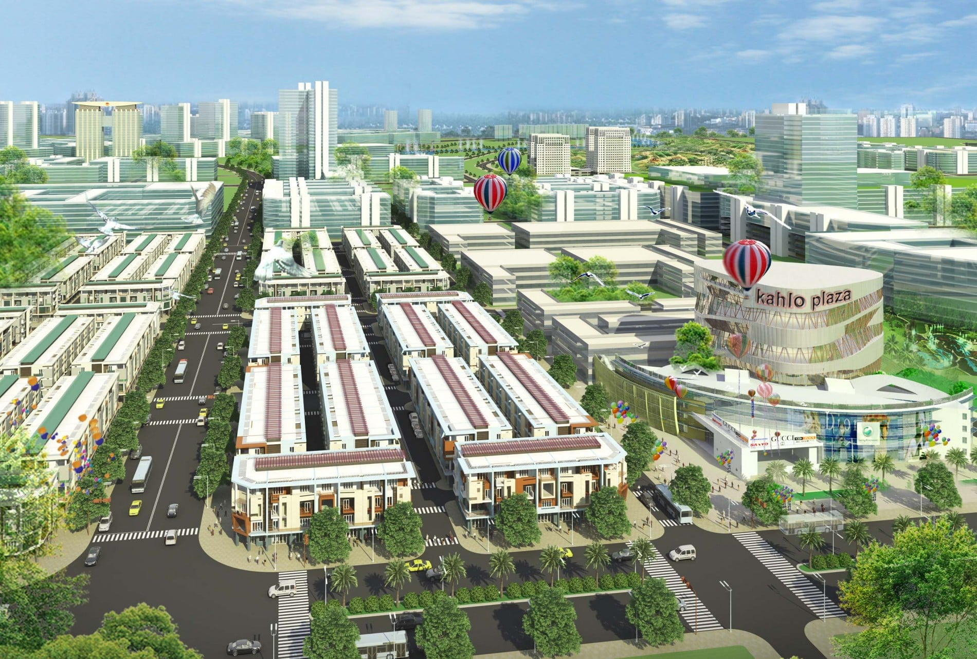 Phối cảnh dự án đất nền khu dân cư Nam Tân Uyên Bình Dương