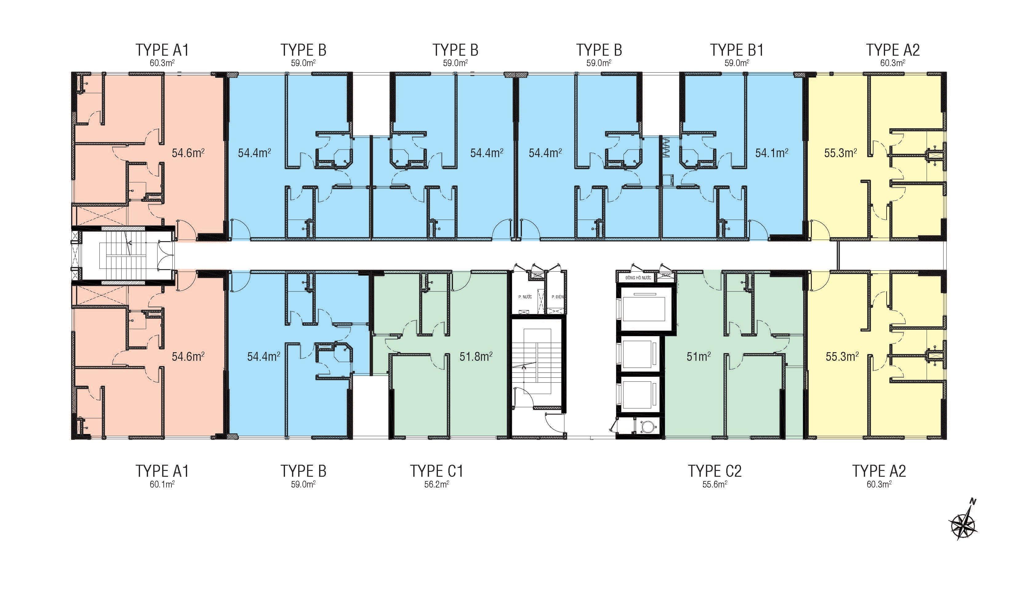 Mặt bằng điển hình căn hộ Citi Grand Quận 2