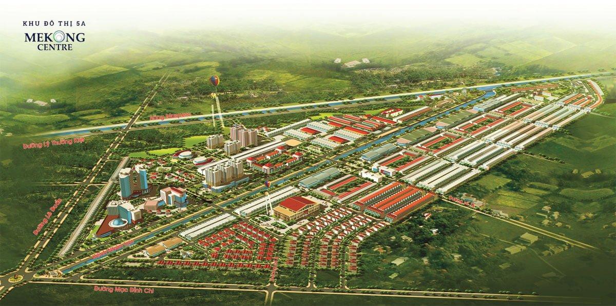 Phối cảnh dự án khu đô thị 5A Mekong Centre Sóc Trăng