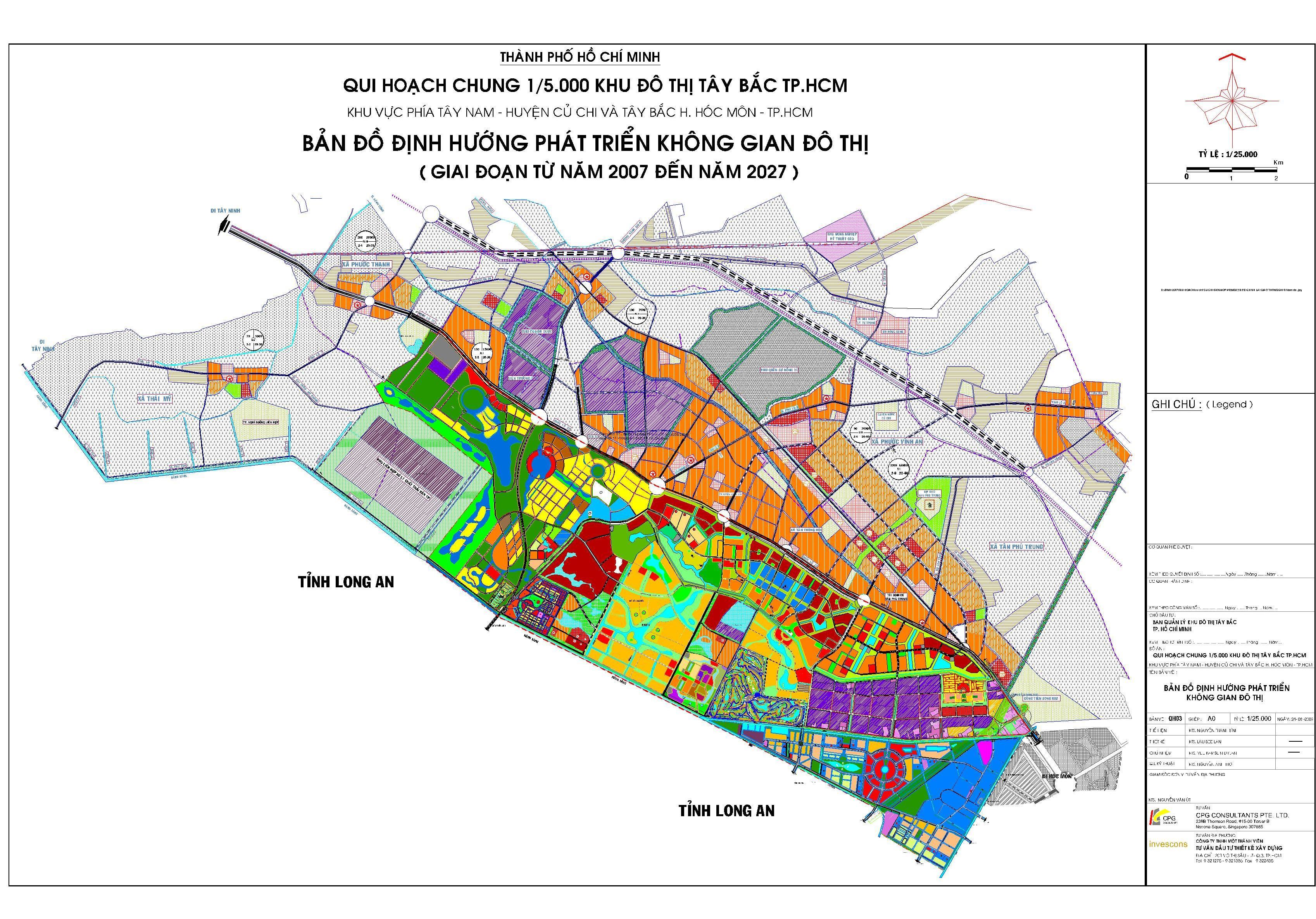 Quy hoạch chung 1/5.000 khu đô thị Tây Bắc TP. HCM
