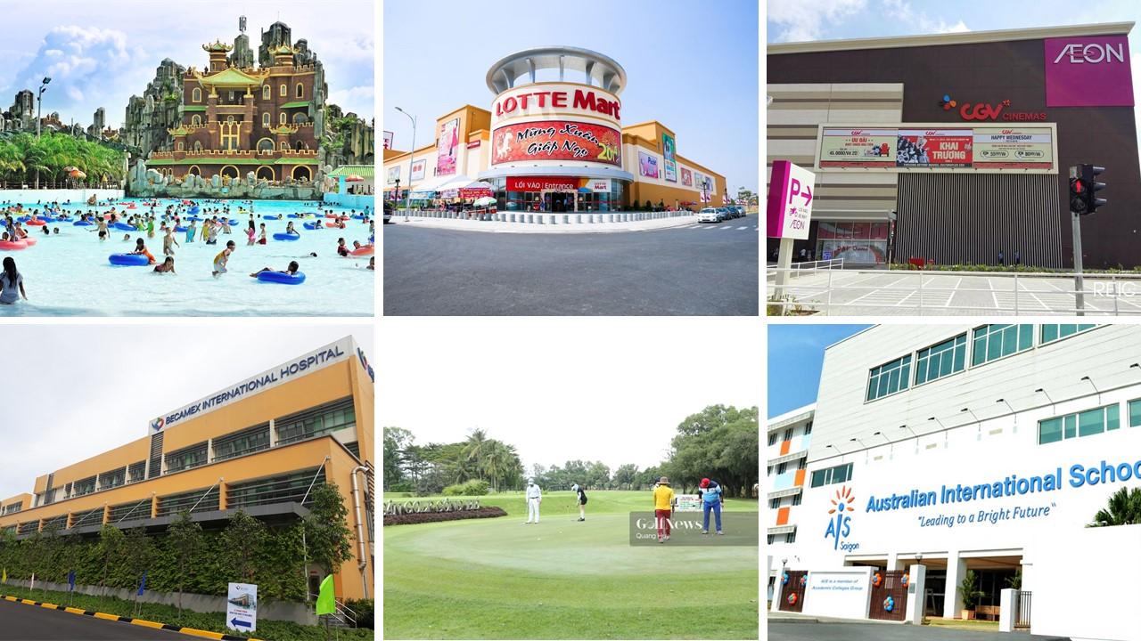 Tiện ích ngoại khu dự án căn hộ Opal Skyline Thuận An Bình Dương