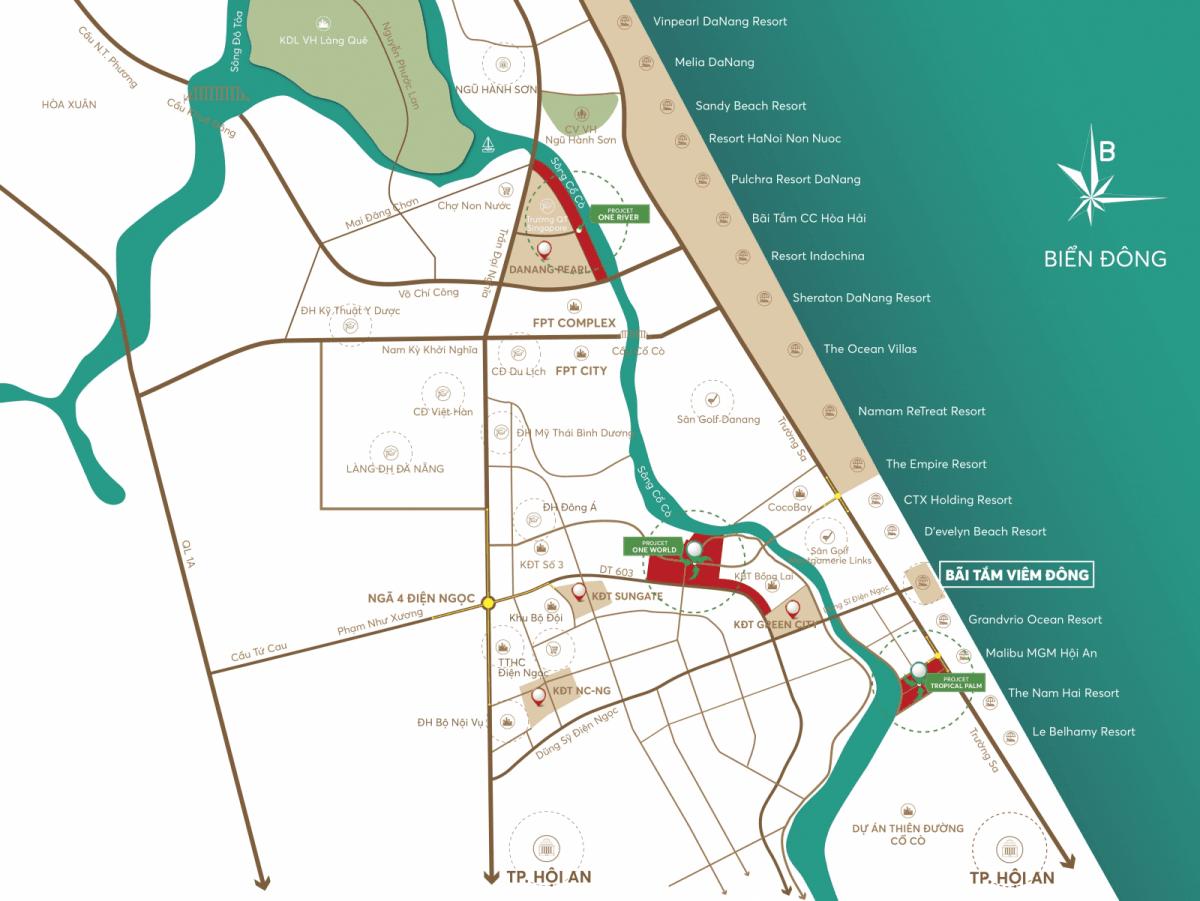Vị trí dự án đất nền One Regency Quảng Nam