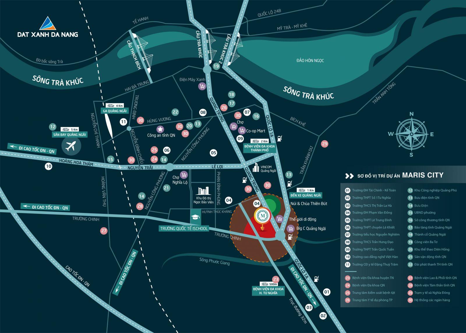 vi tri maris city - DỰ ÁN ĐẤT NỀN MARIS CITY QUẢNG NGÃI