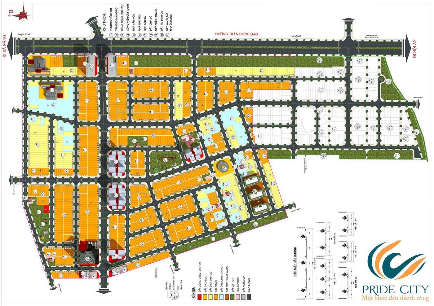 Mặt bằng dự án đất nền Pride City Quảng Nam